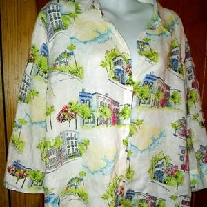 Chico's no iron line blouse size 3